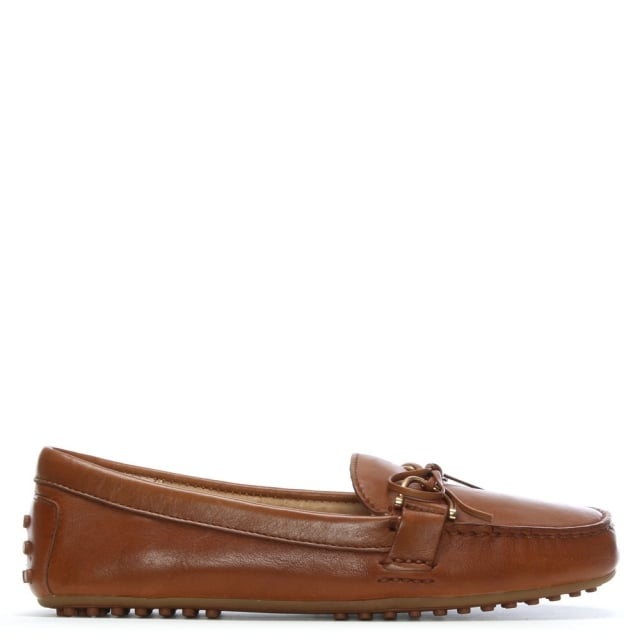 50dde89c505 Lauren By Ralph Lauren Briley Tan Leather Driving Loafers