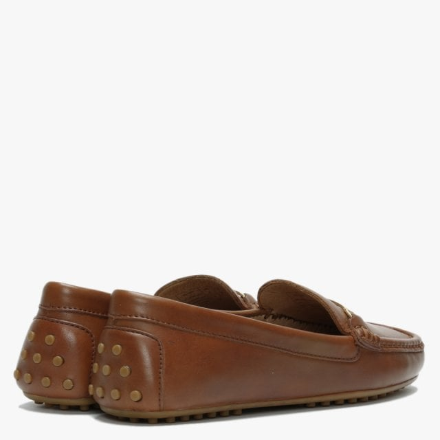 Briony Tan Leather Loafers
