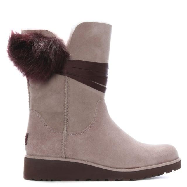 ee0e714cd67d UGG Brita Dusk Twinface Pom Pom Ankle Boots