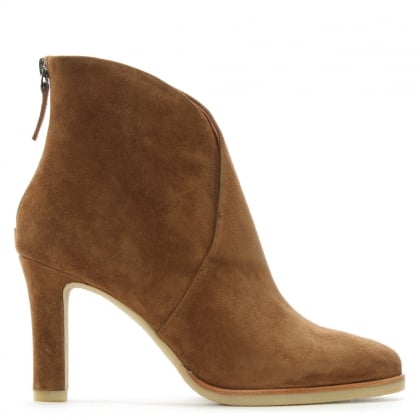 Broadchurch Tan Suede V Ankle Boots