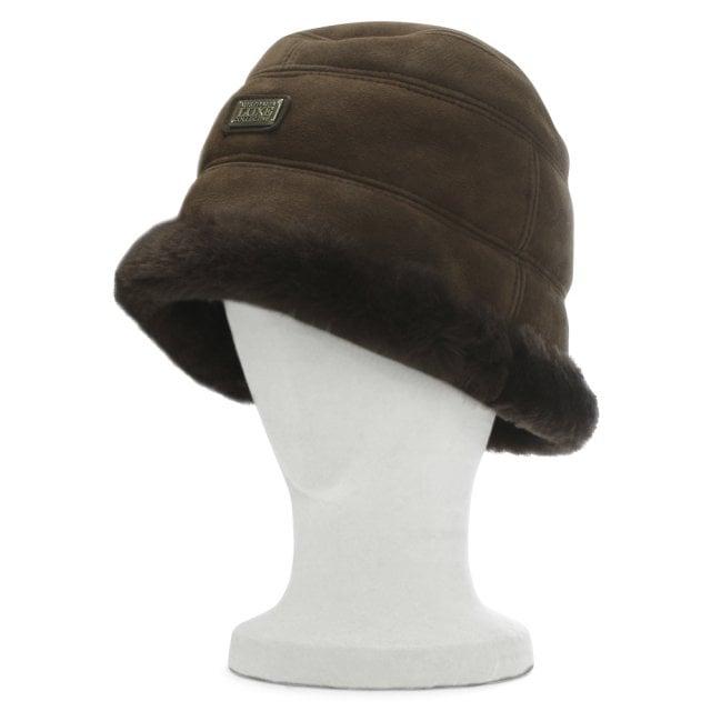 a5a36066c Australia Luxe Co. Brown Double Faced Sheepskin Bucket Hat