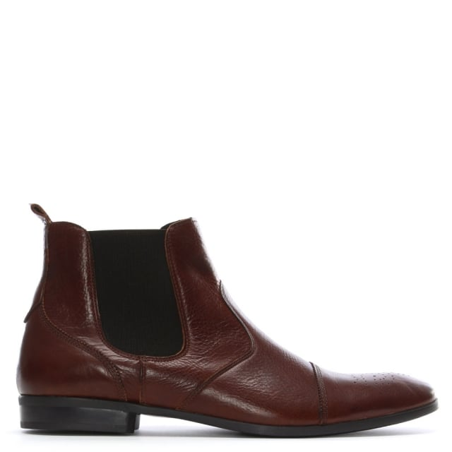 Roman Rock Brown Leather Chelsea Boots