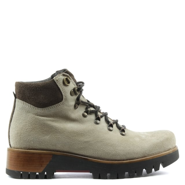 6f468ff56a7 Brown Leather Contrast Lace Up Walking Boot