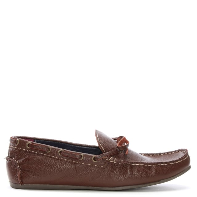 Gucinari Brown Leather Driving Loafers