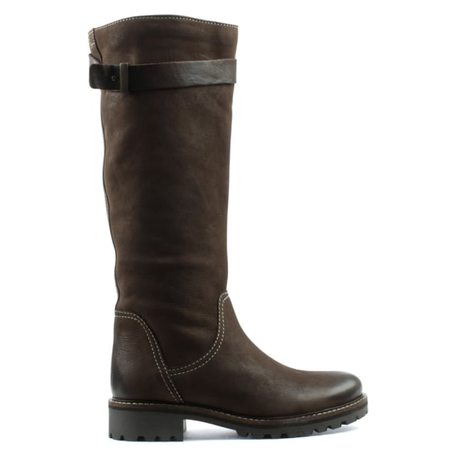 Brown Leather Knee High Winter Boot