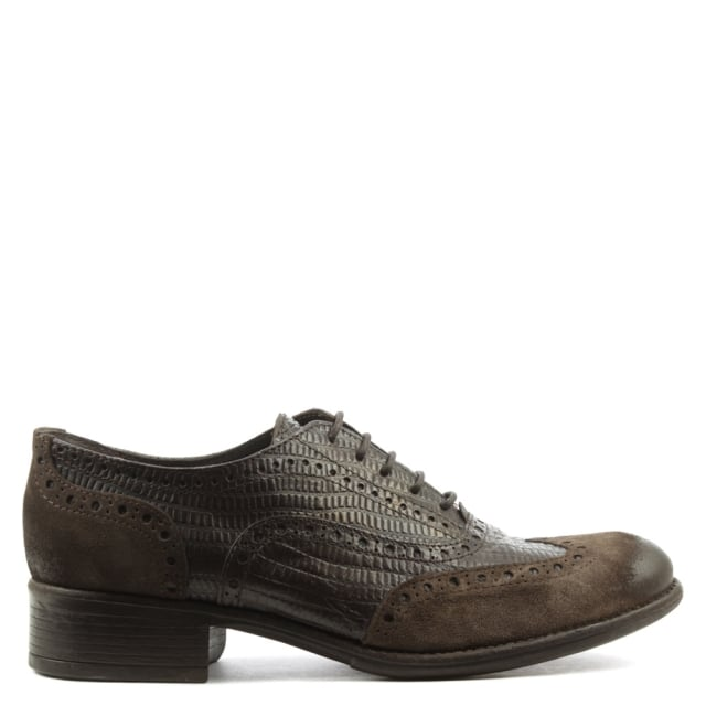 Brown Leather Lace Up Brogue Shoe