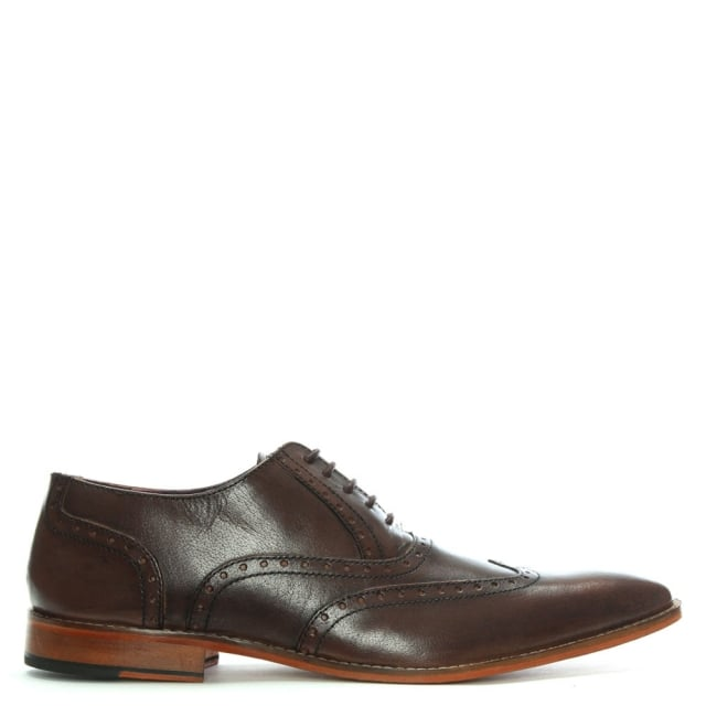 Gucinari Brown Leather Lace Up Brogues