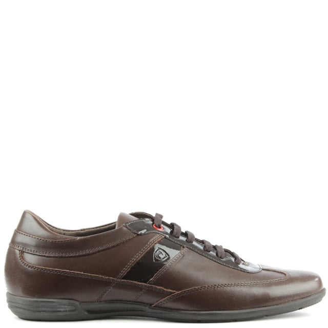 Brown Leather Lace Up Casual Shoe