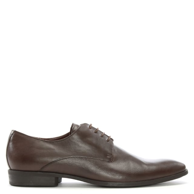 Brown Leather Lace Up Dress Shoes
