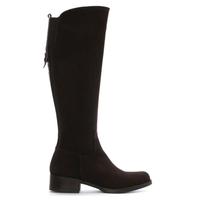 Lamica Brown Suede Knee Boots