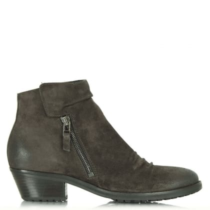 Kennel & Schmenger Brown Suede Monkwell Low Heel Ankle Boot