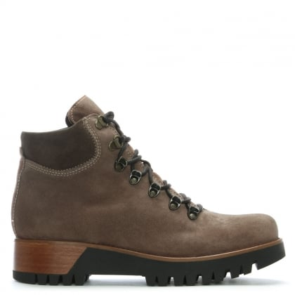 Brown Suede Walking Boots
