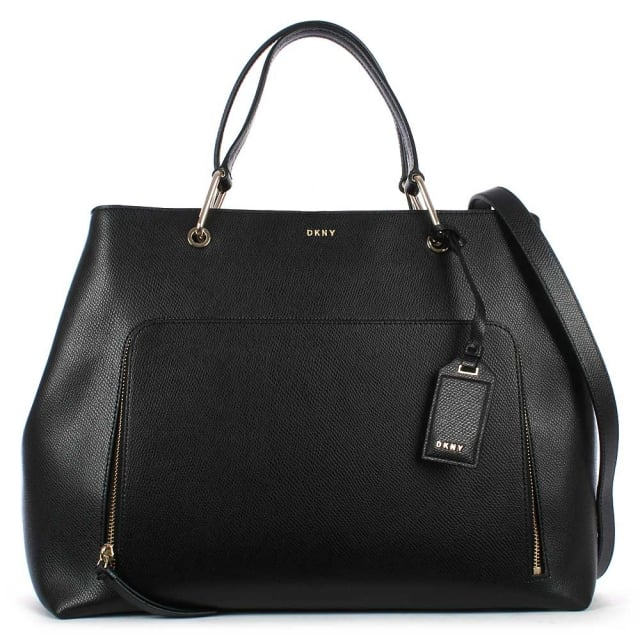 Bryant Black Leather Large Satchel Bag