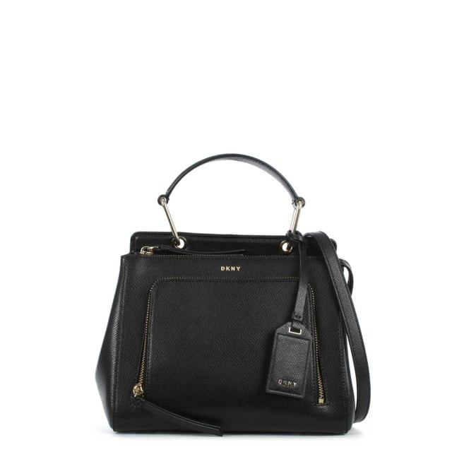 Bryant Black Leather Small Satchel Bag