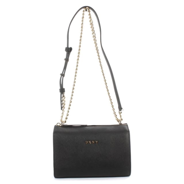 Bryant Black Saffiano Leather Cross-Body Bag