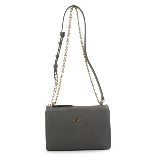 Bryant Grey Saffiano Leather Cross-Body Bag
