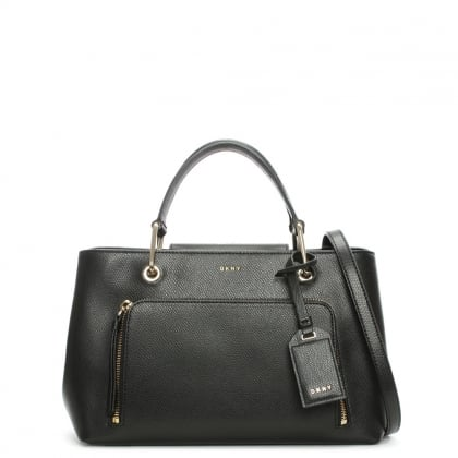 Bryant II Small Black Leather Satchel Bag
