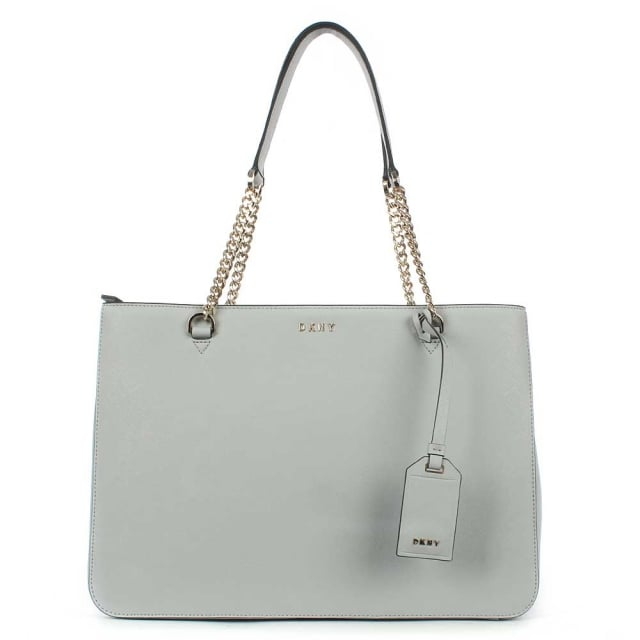 Bryant Marble Saffiano Leather Chain Shopper