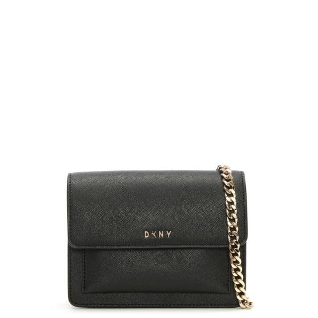 0b86b9686388 DKNY Bryant Mini Black Leather Chain Strap Cross-Body Bag