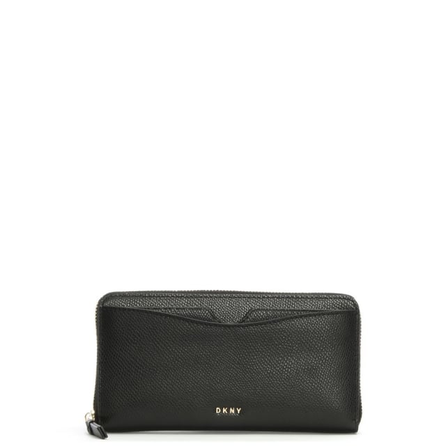 Bryant Park Black Leather Front Pocket Purse