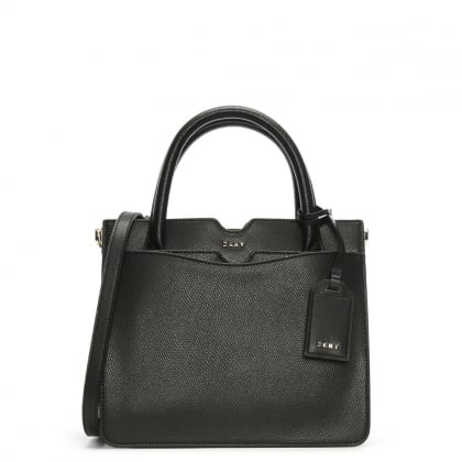 Bryant Park Black Tumbled Leather Satchel Bag