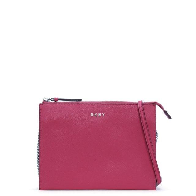 48f097bd011 DKNY Bryant Park Cerise Saffiano Leather Cross-Body Bag