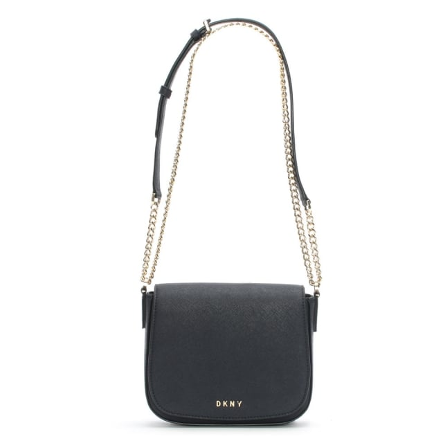 Bryant Park Navy Leather Front Flap Cross-Body Bag