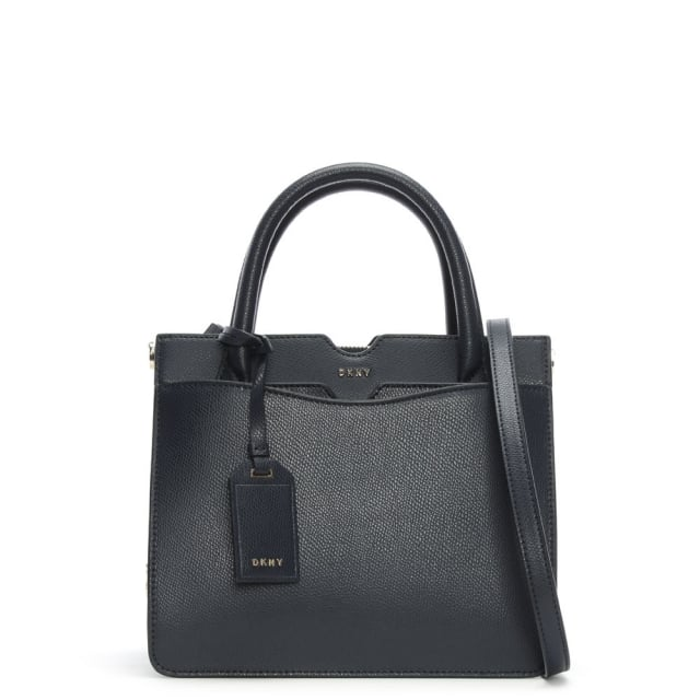 Bryant Park Navy Tumbled Leather Satchel Bag