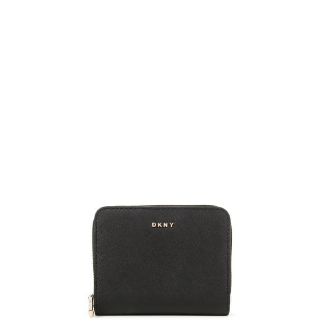 Bryant Park Small Black Leather Carryall Wallet