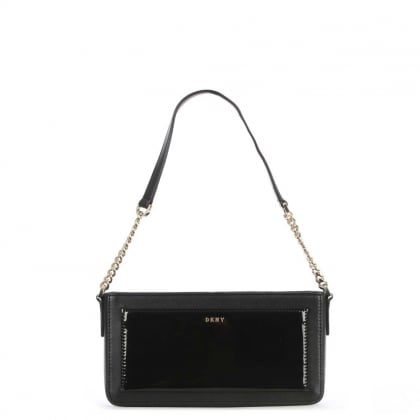 Bryant Park Small Black Leather Cross-Body Bag