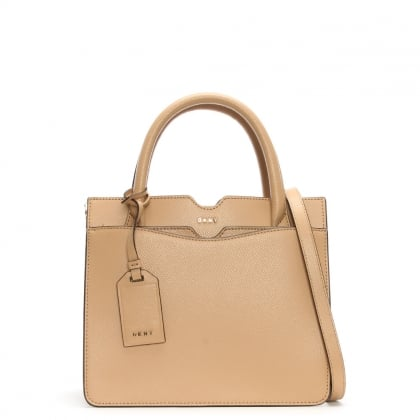 Bryant Park Tea Tumbled Leather Satchel Bag