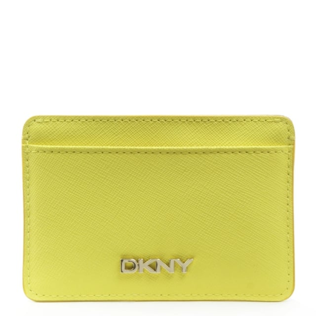 Bryant Park Yellow Leather Card Holder