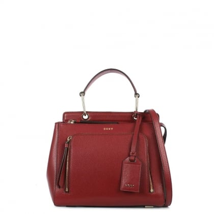Bryant Scarlet Leather Small Satchel Bag