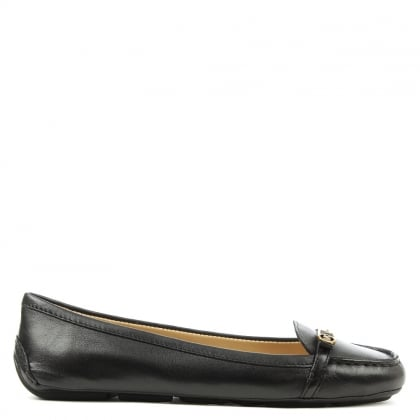Bryce Black Leather Driving Loafer