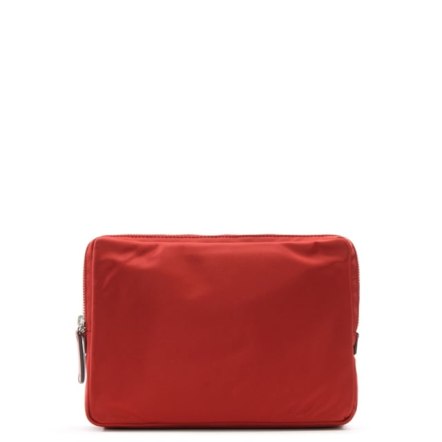 Anya Hindmarch Burgundy Nylon Double Stack Pouch