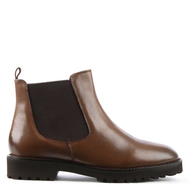 Burnby Tan Leather Chelsea Boot