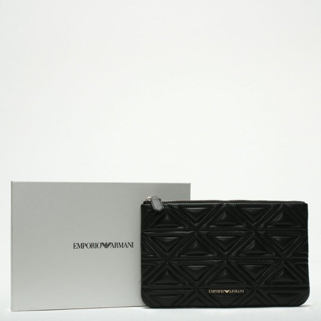 d5a6832d67 Emporio Armani Busta Black Quilted Pouch