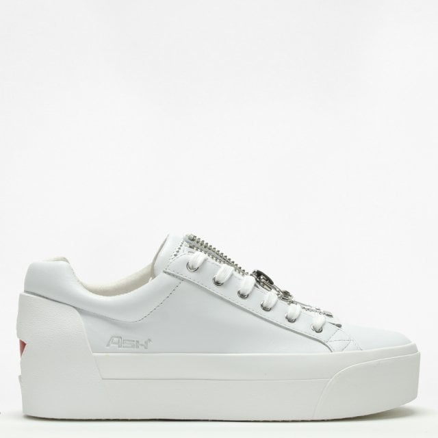 d5e5804aad7 Ash Buzz White Leather Flatform Trainers