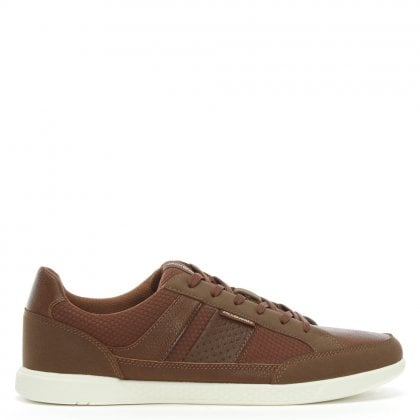 Byson Tan Lace Up Trainers