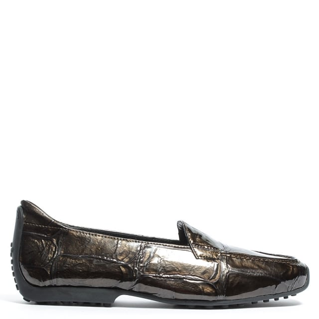 Cadogan Gold Patent Leather Loafer