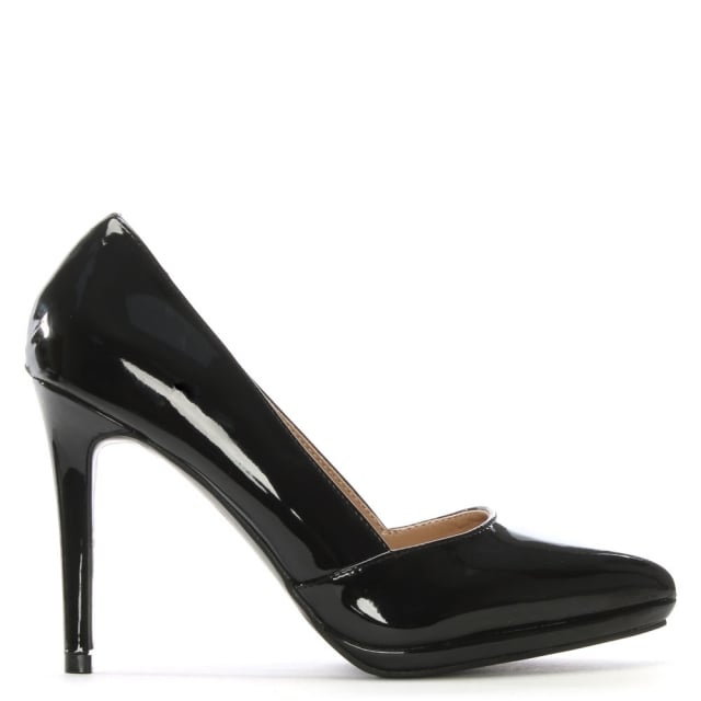 Callen Black Patent Court Shoes