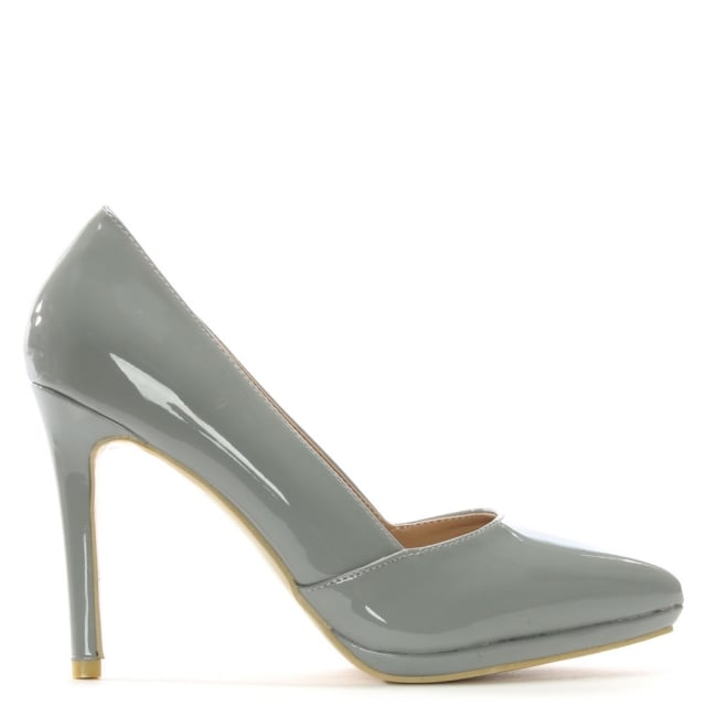 Callen Grey Patent Court Shoes