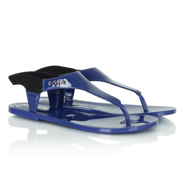 2c793b60e09e Calvin Klein Blue Jelena Jelly Sandal