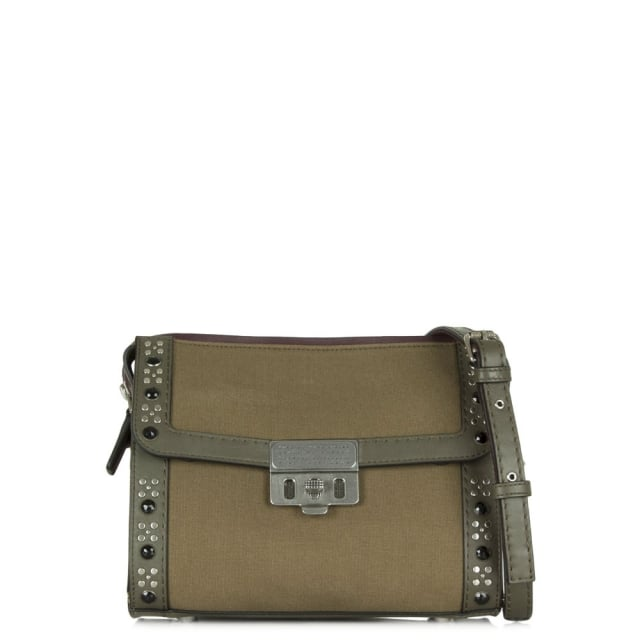 Canvas Espionage 25 Military Green Cross-Body Bag