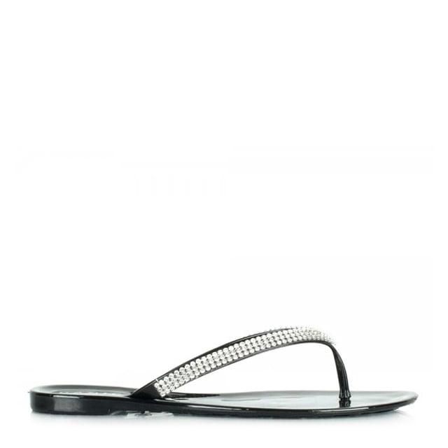 aa89a50dee37 Daniel Black Cara Women s Jelly Diamante Flip Flop