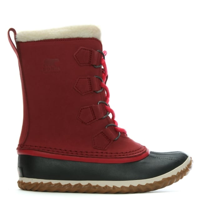 Caribou Slim Red Element Ankle Boots