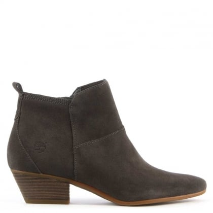 Carleton Grey Suede Ankle Boot