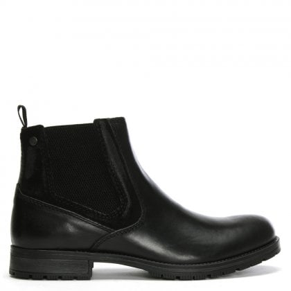 Carston Black Leather Chelsea Boots
