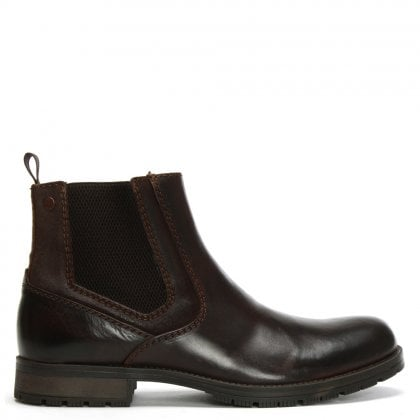 Carston Brown Leather Chelsea Boots