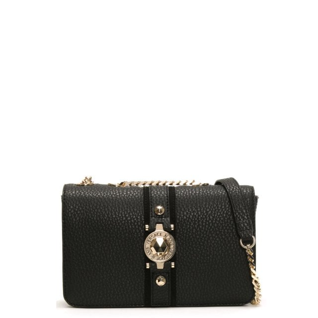 044193c9eb Versace Jeans Cast Black Pebbled Cross-body Bag